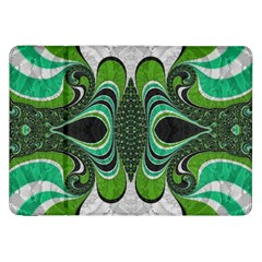 Fractal Art Green Pattern Design Samsung Galaxy Tab 8 9  P7300 Flip Case by BangZart