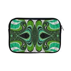 Fractal Art Green Pattern Design Apple Ipad Mini Zipper Cases by BangZart