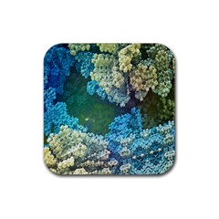 Fractal Formula Abstract Backdrop Rubber Square Coaster (4 Pack)  by BangZart
