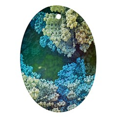 Fractal Formula Abstract Backdrop Oval Ornament (two Sides) by BangZart