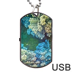 Fractal Formula Abstract Backdrop Dog Tag Usb Flash (two Sides) by BangZart