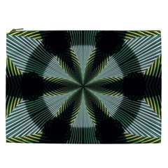 Lines Abstract Background Cosmetic Bag (xxl)  by BangZart