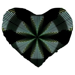 Lines Abstract Background Large 19  Premium Heart Shape Cushions by BangZart