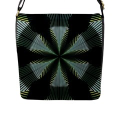 Lines Abstract Background Flap Messenger Bag (l)  by BangZart