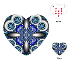 Fractal Cathedral Pattern Mosaic Playing Cards (heart)  by BangZart