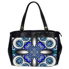 Fractal Cathedral Pattern Mosaic Office Handbags (2 Sides)  by BangZart