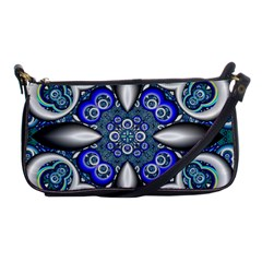 Fractal Cathedral Pattern Mosaic Shoulder Clutch Bags by BangZart