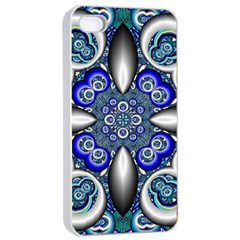 Fractal Cathedral Pattern Mosaic Apple Iphone 4/4s Seamless Case (white) by BangZart