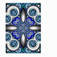 Fractal Cathedral Pattern Mosaic Large Garden Flag (two Sides) by BangZart