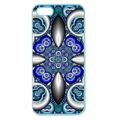 Fractal Cathedral Pattern Mosaic Apple Seamless Iphone 5 Case (color)