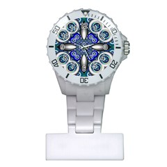 Fractal Cathedral Pattern Mosaic Plastic Nurses Watch by BangZart