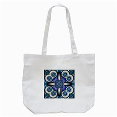 Fractal Cathedral Pattern Mosaic Tote Bag (white) by BangZart