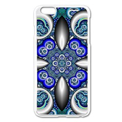 Fractal Cathedral Pattern Mosaic Apple Iphone 6 Plus/6s Plus Enamel White Case by BangZart