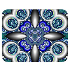 Fractal Cathedral Pattern Mosaic Double Sided Flano Blanket (medium)  by BangZart