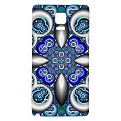 Fractal Cathedral Pattern Mosaic Galaxy Note 4 Back Case by BangZart