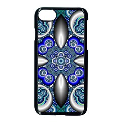 Fractal Cathedral Pattern Mosaic Apple Iphone 7 Seamless Case (black) by BangZart