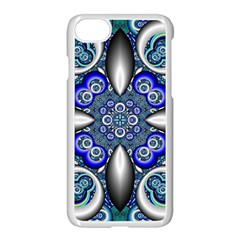 Fractal Cathedral Pattern Mosaic Apple Iphone 7 Seamless Case (white) by BangZart