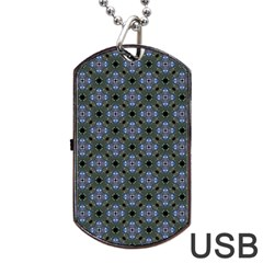 Space Wallpaper Pattern Spaceship Dog Tag Usb Flash (two Sides) by BangZart
