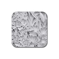 Pattern Motif Decor Rubber Coaster (square)  by BangZart