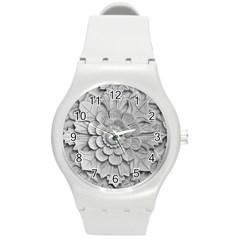 Pattern Motif Decor Round Plastic Sport Watch (m) by BangZart