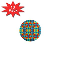 Pop Art Abstract Design Pattern 1  Mini Magnet (10 Pack)  by BangZart