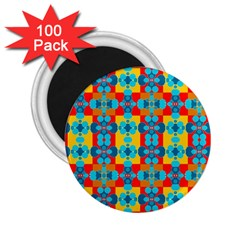 Pop Art Abstract Design Pattern 2 25  Magnets (100 Pack)  by BangZart