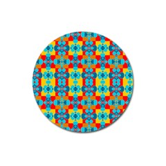 Pop Art Abstract Design Pattern Magnet 3  (round) by BangZart