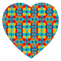 Pop Art Abstract Design Pattern Jigsaw Puzzle (heart) by BangZart