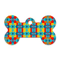 Pop Art Abstract Design Pattern Dog Tag Bone (two Sides) by BangZart