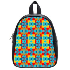 Pop Art Abstract Design Pattern School Bags (small)  by BangZart