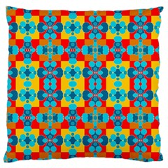 Pop Art Abstract Design Pattern Large Cushion Case (two Sides) by BangZart