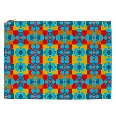Pop Art Abstract Design Pattern Cosmetic Bag (xxl)  by BangZart