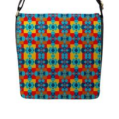 Pop Art Abstract Design Pattern Flap Messenger Bag (l)  by BangZart