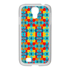 Pop Art Abstract Design Pattern Samsung Galaxy S4 I9500/ I9505 Case (white) by BangZart