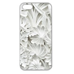 Pattern Motif Decor Apple Seamless Iphone 5 Case (clear)