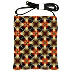 Kaleidoscope Image Background Shoulder Sling Bags by BangZart