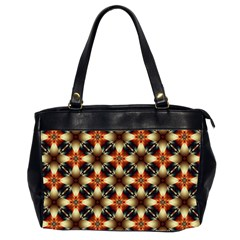Kaleidoscope Image Background Office Handbags (2 Sides)  by BangZart