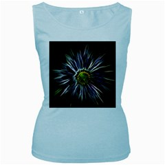 Flower Structure Photo Montage Women s Baby Blue Tank Top by BangZart