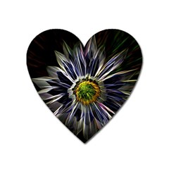 Flower Structure Photo Montage Heart Magnet by BangZart