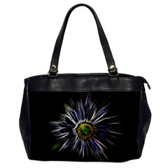 Flower Structure Photo Montage Office Handbags by BangZart