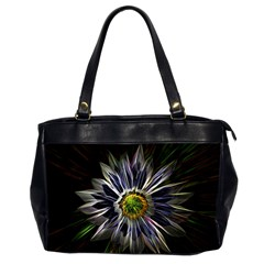 Flower Structure Photo Montage Office Handbags (2 Sides)  by BangZart