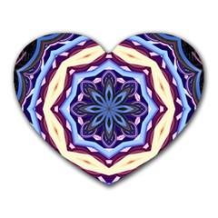 Mandala Art Design Pattern Heart Mousepads by BangZart