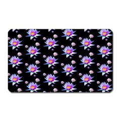 Flowers Pattern Background Lilac Magnet (rectangular) by BangZart