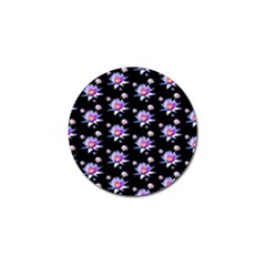 Flowers Pattern Background Lilac Golf Ball Marker (10 Pack) by BangZart