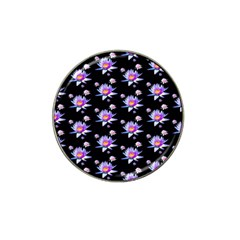 Flowers Pattern Background Lilac Hat Clip Ball Marker (4 Pack) by BangZart