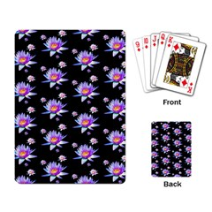 Flowers Pattern Background Lilac Playing Card by BangZart