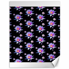 Flowers Pattern Background Lilac Canvas 36  X 48   by BangZart