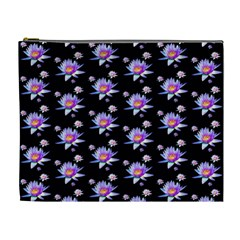 Flowers Pattern Background Lilac Cosmetic Bag (xl) by BangZart