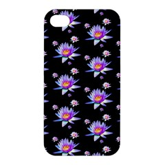 Flowers Pattern Background Lilac Apple Iphone 4/4s Hardshell Case by BangZart