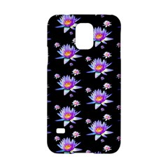 Flowers Pattern Background Lilac Samsung Galaxy S5 Hardshell Case  by BangZart